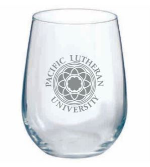 STEMLESS WINE GLASS WITH ROSE WINDOW IN SILVER