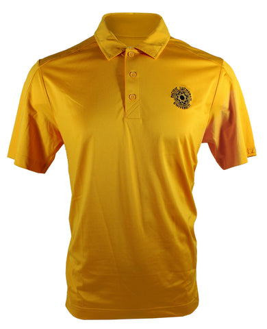 PROSPECT POLO IN GOLD WITH BLACK ROSE WINDOW