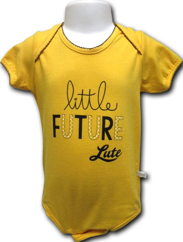INFANT DIAPER SHIRT WITH GOLD BODY AND FUTURE LUTES