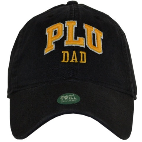 BLACK HAT WITH GOLD PLU DAD LETTERING