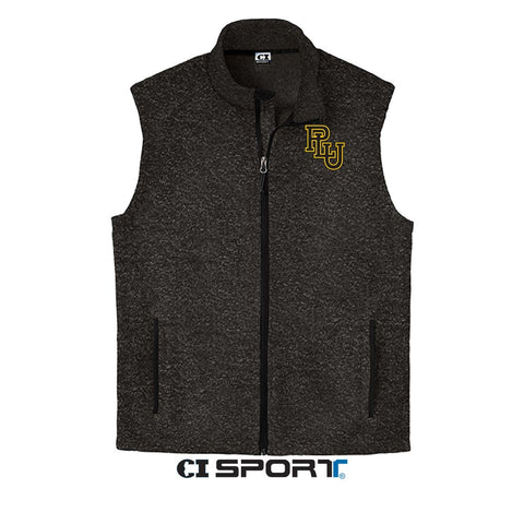 SWEATER FLEECE VEST - PLU INTERLOCK