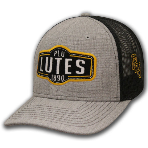 PLU LUTES 1890 ZONE TRUCKER HAT IN GREY/BLACK
