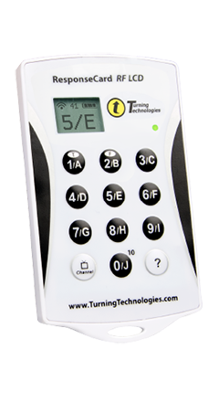 TURNING TECHNOLOGIES RESPONSE CARD CLICKER