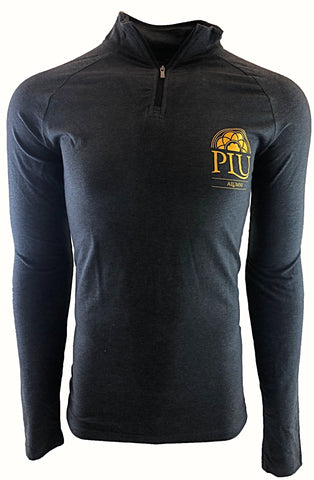 MEN'S UNDER ARMOUR CHARGED COTTON 1/4 ZIP WITH HALF ROSE WINDOW PLU ALUMNI