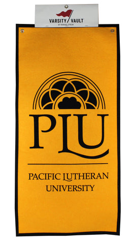 "FELT BANNER - 18"" X 36"" - VERTICAL - PLU OVER PACIFIC LUTHERAN UNIVERSITY"
