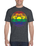 RAINBOW ROSE WINDOW TEE