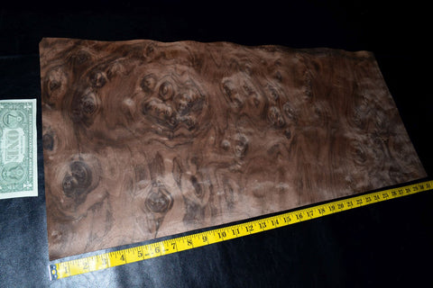 Walnut Burl Raw Wood Veneer Sheets 13 x 24 inches 1//42nd thick         E4705-20