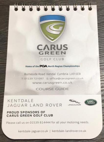 Carus Green Golf Course Shot Saver (Yardage Book)