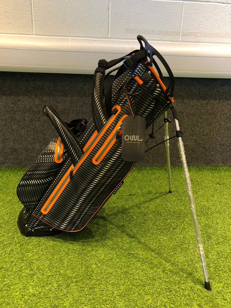OUUL Python Lightweight Waterproof Black/Orange/Light Grey Golf Stand Bag