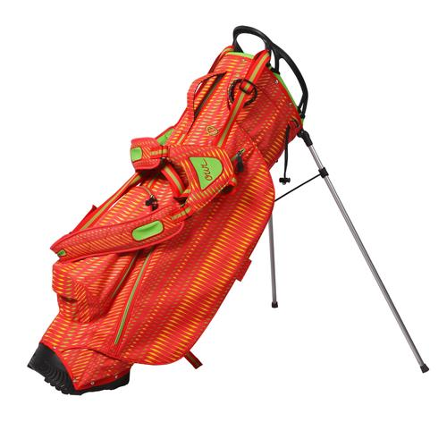 OUUL Python Superlight Stand Bag - Red / Apple Green / Yellow