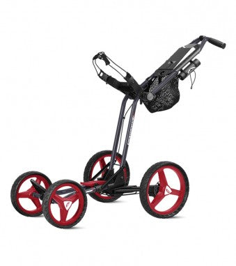 Sun Mountain Micro Cart GT Push Trolley Black/Red