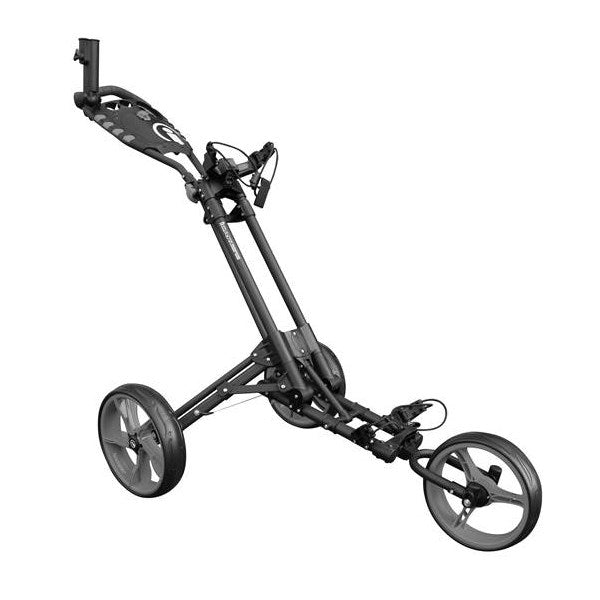 iCart One Compact 3-Wheel Push Trolley Grey/Grey