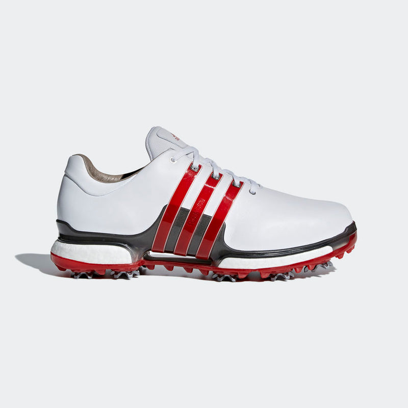 ADIDAS TOUR 360 2.0 Golf Shoes White/Red/Silver