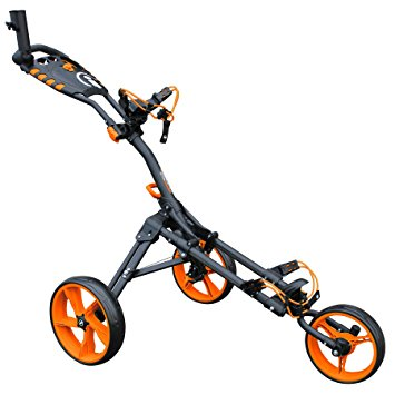 iCart One Compact 3-Wheel Push Trolley Black/Orange