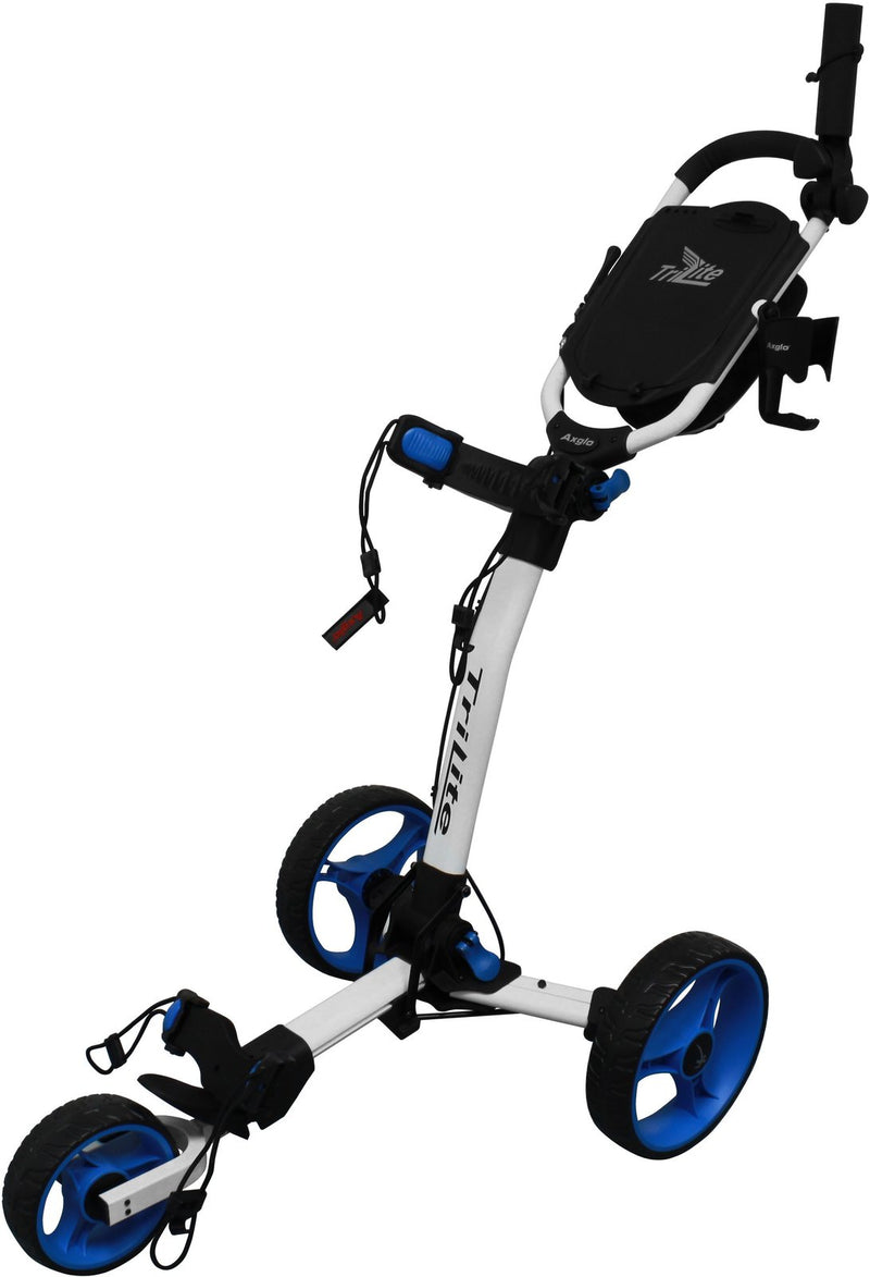 Axglo TRI LITE Trolley including beverage and umbrella holder White/Blue