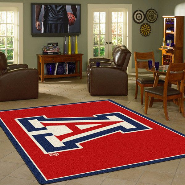 NCAA college team logo rugs