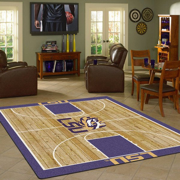 NCAA college basketball home court rugs