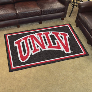UNLV - University of Nevada Las Vegas Plush Rug  College Area Rug - Fan Rugs
