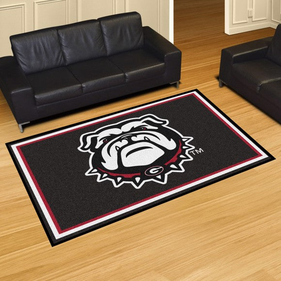 Georgia University Mascot Plush Rug  College Area Rug - Fan Rugs