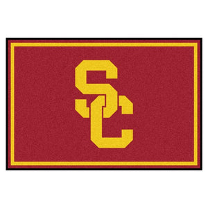 USC - University of Southern California Plush Rug  College Area Rug - Fan Rugs