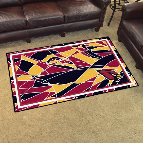 Arizona Cardinals X-Fit 4x6 Plush Rug  NFL Area Rug - Fan Rugs