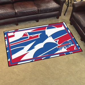 Buffalo Bills X-Fit 4x6 Plush Rug  NFL Area Rug - Fan Rugs