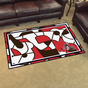 Cleveland Browns X-Fit 4x6 Plush Rug  NFL Area Rug - Fan Rugs