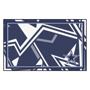 Dallas Cowboys X-Fit 4x6 Plush Rug  NFL Area Rug - Fan Rugs