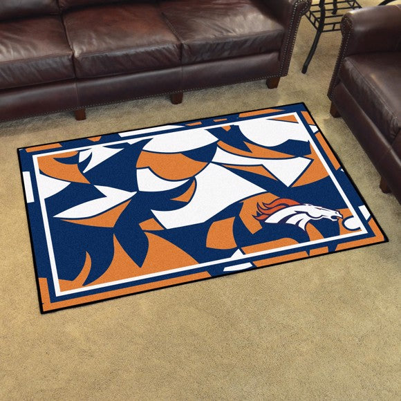 Denver Broncos X-Fit 4x6 Plush Rug  NFL Area Rug - Fan Rugs
