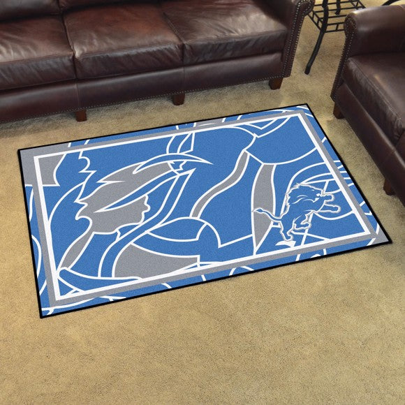 Detroit Lions X-Fit 4x6 Plush Rug  NFL Area Rug - Fan Rugs