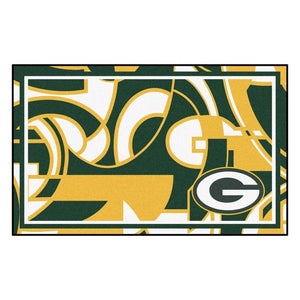 Green Bay Packers X-Fit 4x6 Plush Rug  NFL Area Rug - Fan Rugs