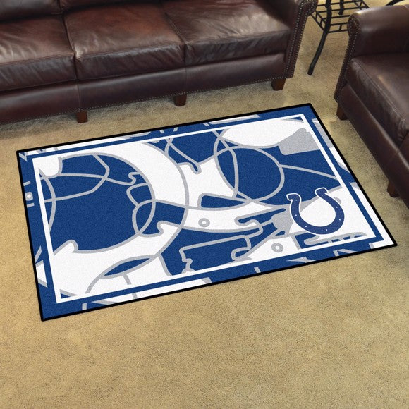 Indianapolis Colts X-Fit 4x6 Plush Rug  NFL Area Rug - Fan Rugs