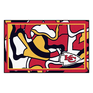 Kansas City Chiefs X-Fit 4x6 Plush Rug  NFL Area Rug - Fan Rugs