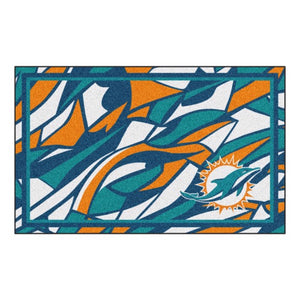 Miami Dolphins X-Fit 4x6 Plush Rug  NFL Area Rug - Fan Rugs