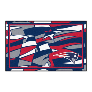 New England Patriots X-Fit 4x6 Plush Rug  NFL Area Rug - Fan Rugs