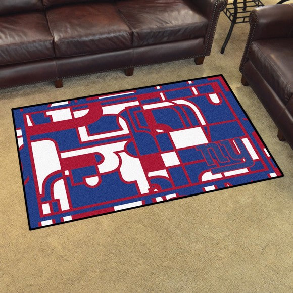 New York Giants X-Fit 4x6 Plush Rug  NFL Area Rug - Fan Rugs