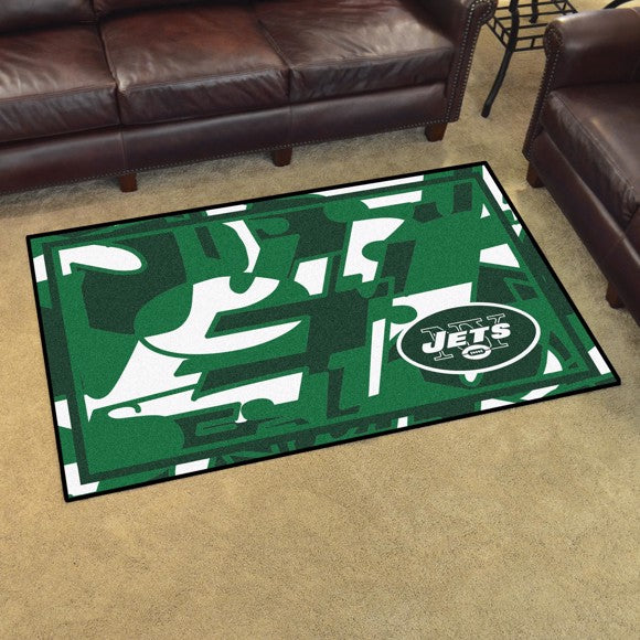 New York Jets X-Fit 4x6 Plush Rug  NFL Area Rug - Fan Rugs