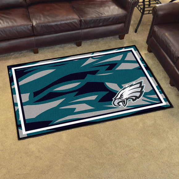 Philadelphia Eagles X-Fit 4x6 Plush Rug  NFL Area Rug - Fan Rugs