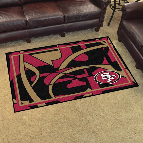 San Francisco 49ers X-Fit 4x6 Plush Rug  NFL Area Rug - Fan Rugs