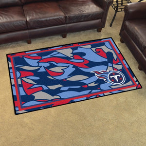 Tennessee Titans X-Fit 4x6 Plush Rug  NFL Area Rug - Fan Rugs