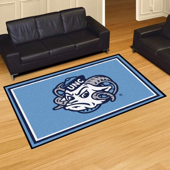 University of North Carolina - Chapel Hill - UNC Mascot Plush Rug  College Area Rug - Fan Rugs