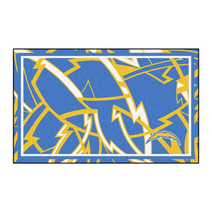Los Angeles Chargers X-Fit 4x6 Plush Rug  NFL Area Rug - Fan Rugs