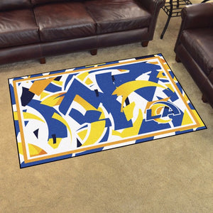 Los Angeles Rams X-Fit 4x6 Plush Rug  NFL Area Rug - Fan Rugs
