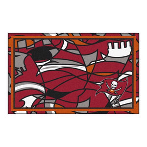 Tampa Bay Buccaneers X-Fit 4x6 Plush Rug  NFL Area Rug - Fan Rugs
