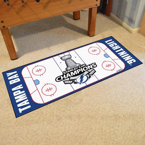 Tampa Bay Lightning 2020 Stanley Cup Champions Rink Runner