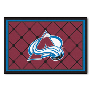 Colorado Avalanche Plush Rug  NHL Area Rug - Fan Rugs