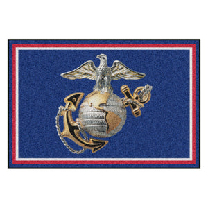 U.S. Marines Official Logo Ultra Plush Area Rug  NFL Area Rug - Fan Rugs