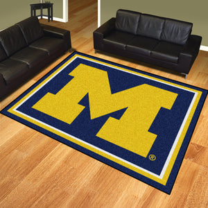 University of Michigan Plush Rug  College Area Rug - Fan Rugs