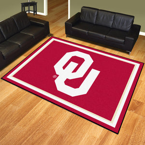 University of Oklahoma Plush Rug  College Area Rug - Fan Rugs