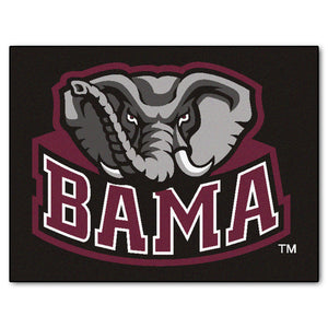 Alabama All Star Mat - Mascot Logo  college all star mat - Fan Rugs
